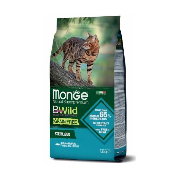 Monge Bwild Cat Grain Free Sterilised Tuna and Peas
