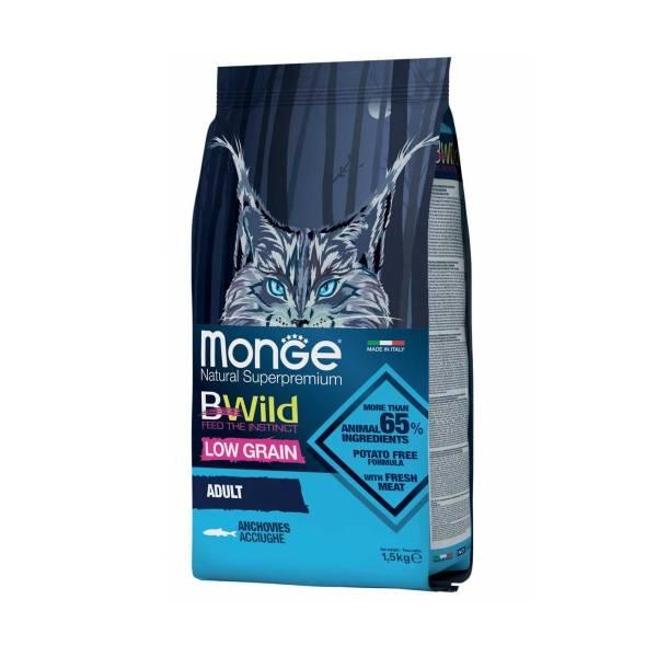 Monge Bwild Cat Low Grain Adult Anchovies