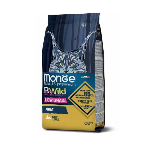 Monge Bwild Cat Low Grain Adult Rabbit | Apetit shop - Online prodaja hrane i opreme za kućne ljubimce