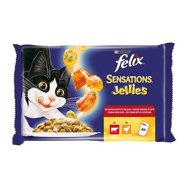 Purina Felix Sensations Sos Govedina i Piletina
