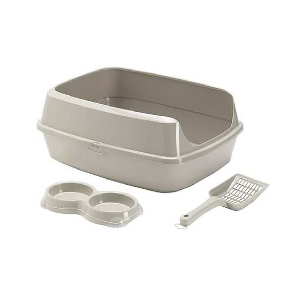 Moderna Starterkit with Bowl & Scoop Warm Grey, otvoreni WC za mačke
