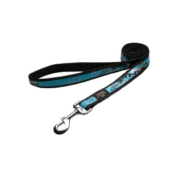 Rogz Fixed Lead Turquoise Chrome, tirkizni povodac za pse