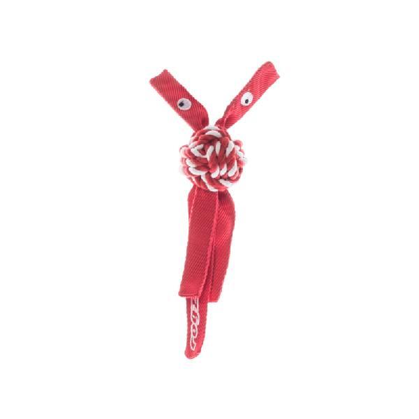 Rogz Plush Squeak Toy Red, crveni pišteći kanap