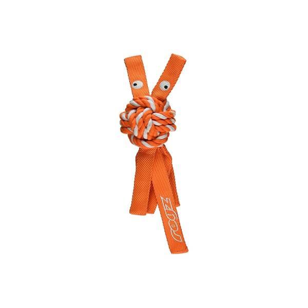 Rogz Plush Squeak Toy Orange, pink pišteći kanap