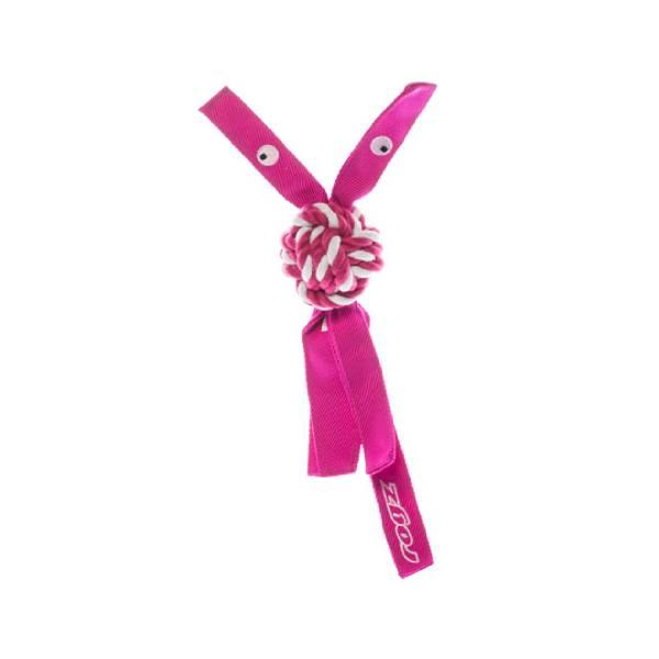 Rogz Plush Squeak Toy Pink, pink pišteći kanap