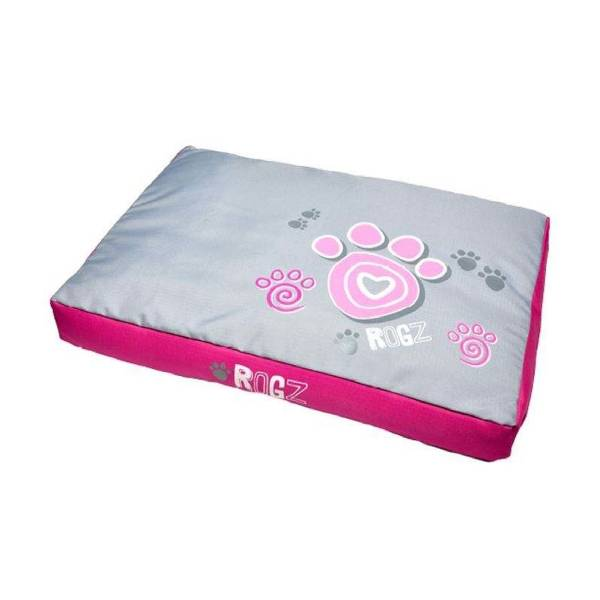 Rogz Flat Bed Pink Paw, pink ležaljka za pse sa šapama