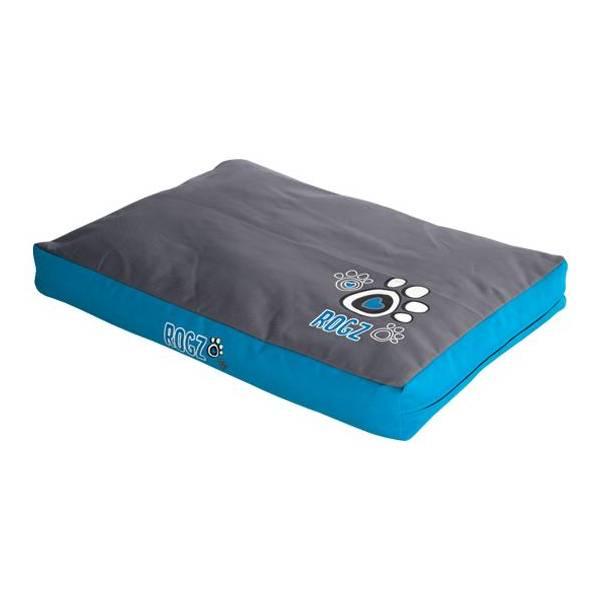 Rogz Flat Bed Turq Paw, tirkizna ležaljka za pse sa šapicama