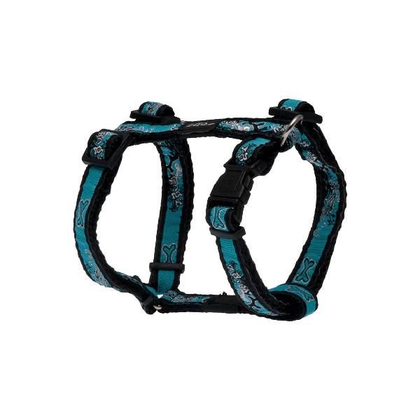Rogz H-Harness Turquoise Chrome, tirkizni am za pse
