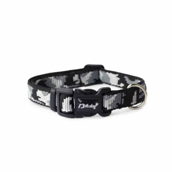 13th Dog Black Army Collar