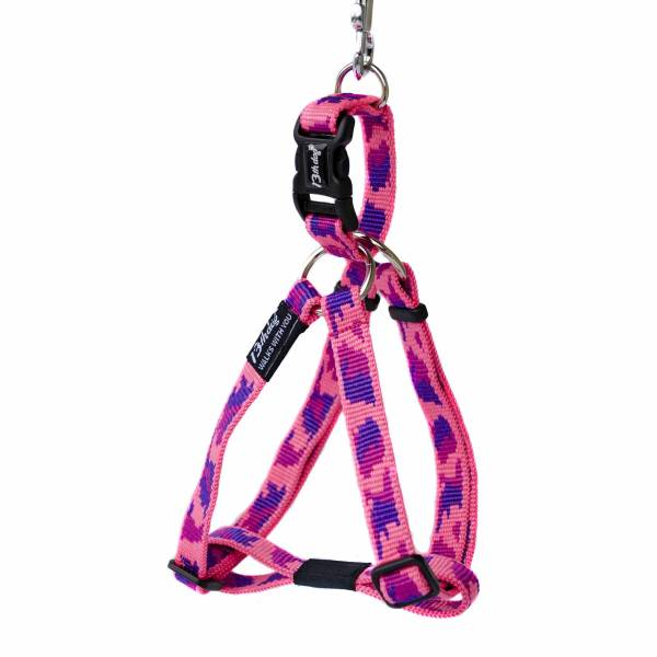 13th Dog Messy Pink Harness